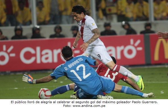 Perú 2 y Paraguay 0 en Eliminatorias Brasil 2014 - Noticias del Perú