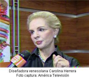 diseñadora venezolana Carolina Herrera en Lima - noticias