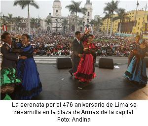 dia de la canción criolla en la Plaza de Armas de Lima - noticias