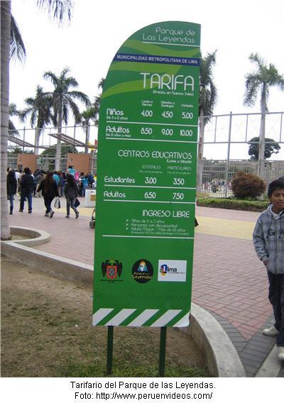 Tarifario del Parque de las Leyendas costo de entradas - noticias