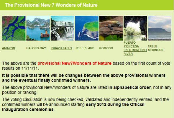 Amazonas es la Nueva Maravilla Natural del Mundo
