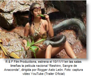 """Hoy es el Estreno de la película peruana """"Reshinn - Sangre de Anaconda"""""""