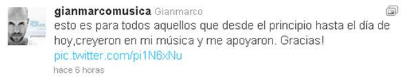 Gian Marco agradece a fanáticos por el Twitter tras ganar el Grammy - noticias