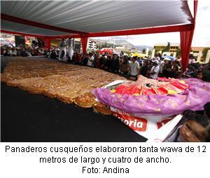 tanta wawa más grande del Perú bizcocho - noticias