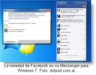 Prueba el nuevo Messenger de Facebook para Windows 7
