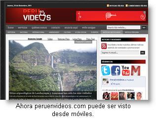 Ahora peruenvideos.com puede ser visto desde tu Smartphone