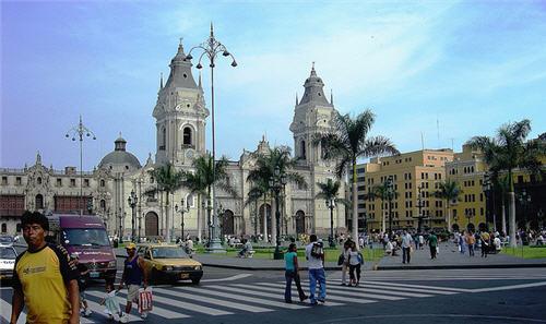 Foto de la Plaza Mayor de Lima en Perú - América del Sur
