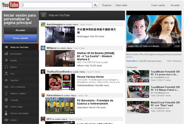 youtube con nuevo look - noticias