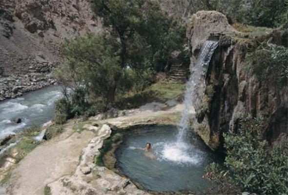 Imagen de los baños termales de Churín