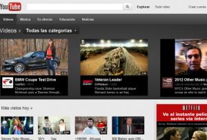 Youtube, sitio de Google - noticias