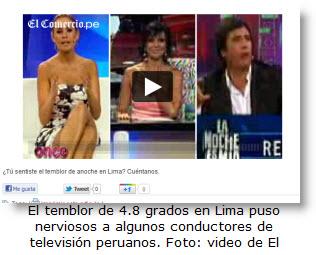 En temblor de 4.8 grados en Lima puso nerviosa a Jessica Tapia