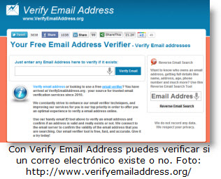 Aprende a verificar en línea si un correo existe o no - Verify Email Address