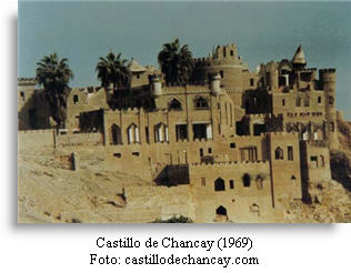 Chancay castle on a cliff of Chancay
