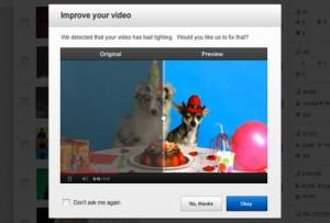 Nuevas tecnologías en Youtube corrigen videos movidos y oscuros