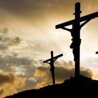 Image de Monte Gólgota con Jesucristo en la cruz