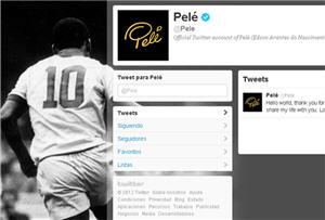 Pelé en Twitter, red social - noticias