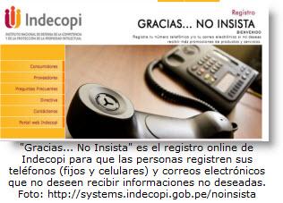 Registro en línea para no recibir llamadas, correos y mensajes de texto no deseados.