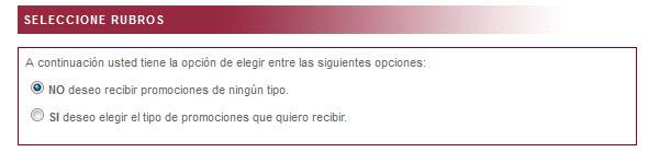 Cuarto paso para registro en línea en Gracias... No insista de Indecopi