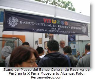Foto del stand del BCR en la X Feria Museo a tu Alcance en el Parque de la Exposición.