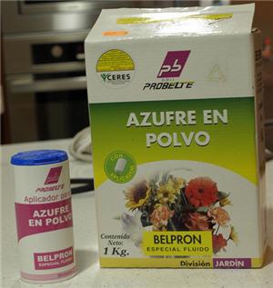 usar azufre para eliminar ácaros