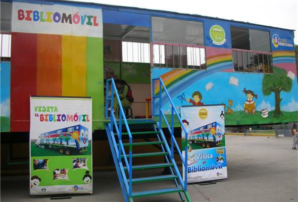 Bibliomóvil, biblioteca, niños, lectura