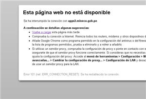 colapso de página web - noticias