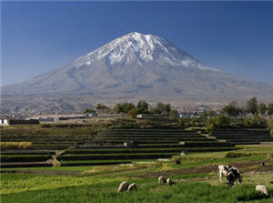 turismo en el volcán de Arequipa