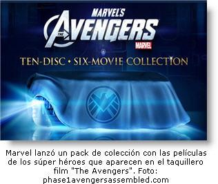 Salio pack de 10 discos blu-ray con las películas de los vengadores - Marvel