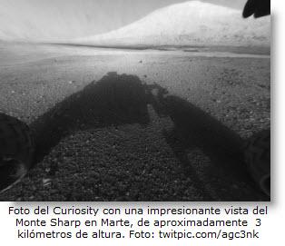 El Monte Sharp de Marte mide 3 kilómetros de altura aproximadamente