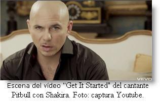 "En cantante de origen cubano Pitbull lanza nuevo video ""Get It Started"" con Shakira"