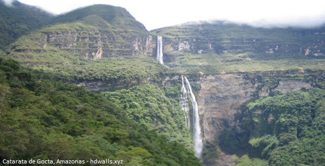 Catarata de Gocta, en Chachapoyas, región Amazonas en el Perú
