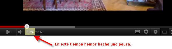Compartir url de video en Youtube haciendo pausa en el tiempo específico
