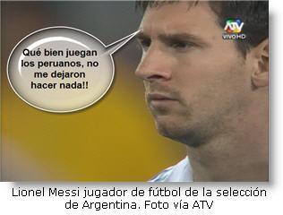 Messi fue neutralizado por selección peruana