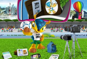 FIFA y COL presentaron a armadillo como mascota del mundial Brasil 2014