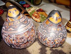 mate burilado en Huancayo, artesania, feria - noticias