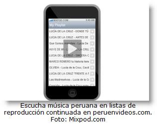 Escuchar musica peruana de youtube en forma continuada