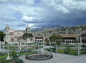 Plaza de Ayacucho en la ciudad de Huamanga