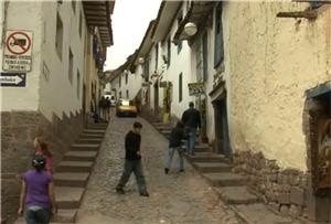 Calle del barrio de San Blas en Cusco