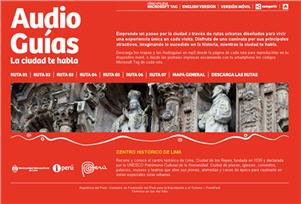 Audio Guías que permite conocer el centro histórico de Lima