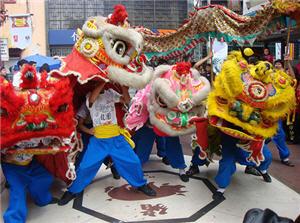 Danza china en la Calle Capón
