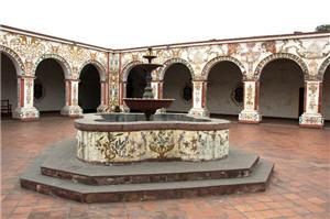 La pileta en el Convento de los Descalzos de Lima