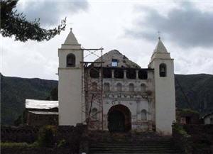 Iglesia de Coporaque en Arequipa
