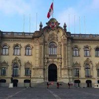 Imagen de exteriores del Palacio de Gobierno del Perú