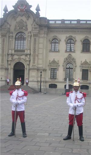 escolta del palacio de gobierno