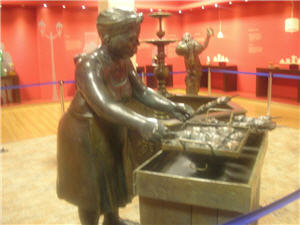 La anticuchera en el Museo de la Gastronomía en Lima