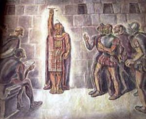 La captura y rescate del inca en Cajamarca