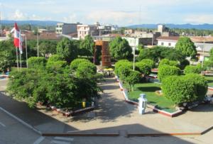 Vista panorámica de la ciudad de Juanjui en la Región San Martín