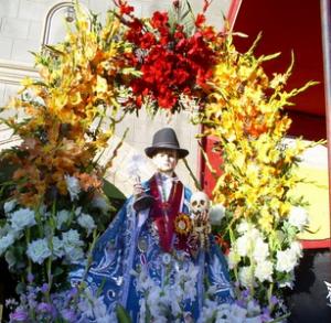 Procesión en la Fiesta del Tata Pancho en Yunguyo, Puno