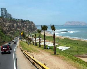 Vista de una parte de la Costa Verde