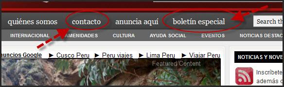 Boletin especial de Peruenvideos.com